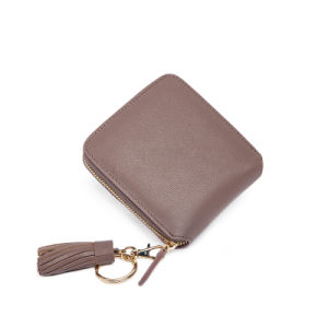 Elegant Coin Purse Card Holder Ladies PU Tassel Wallet Wzx1107 pictures & photos