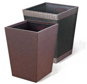 Classic Trash Bin Leather Cover for Hotel Gueat Room (GPX-45J) pictures & photos