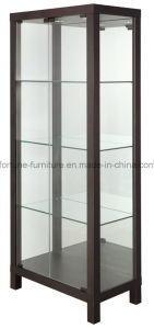 Wooden Frame Tempered Glass Display Cabinet (I&D-N3030A)