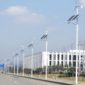 Wind Hybrid Solar Powered LED Street Lights for Road Path Garden Square Plaza pictures & photos
