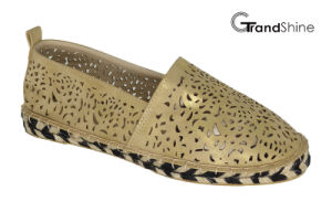 Women′s Casual Hollow out Espadrille Flat Shoes pictures & photos