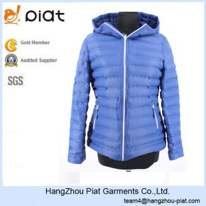 2016 New Style Bulk Product Womens Blue Padded Winter Jacket