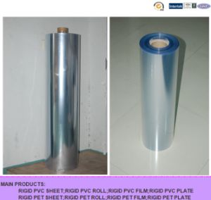 PVC Food Wrap Film; Blue Clear Rigid PVC Film for Blister Pack pictures & photos