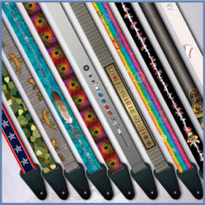 Heat Transfer Customized Pattern Vintage Guitar Strap pictures & photos
