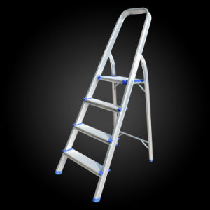 Hot Sale 5 Step Foldable Aluminum Handrail Attic Ladder pictures & photos