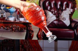 Transparent Round Shape Glass Wine Bottle pictures & photos