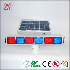 Moveable Solar Panel LED Light/Portable LED Red Blue Warning Lights Traffic Expressway Solar Freeway Warning Light Super Highway Waterproof Solar Light pictures & photos