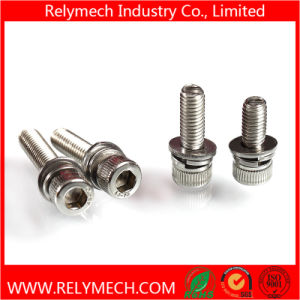 Cup Head Hex Head Combination Screw/ Sem Screw with Washer in SUS304 pictures & photos