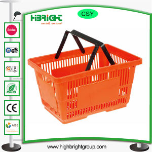 Plastic Single Handle Hand Carry Shopping Basket pictures & photos