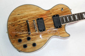Hanhai Music / Lp Style Electric Guitar with Bark Grain Veneer pictures & photos