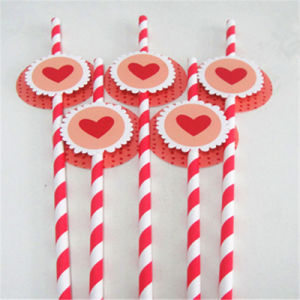Decorative Items Wholesale Colored Tag Drinking Paper Straws pictures & photos