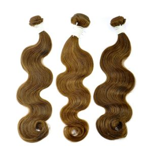 Hot Sale New Product Body Wave Brown Human Hair Weft Made in China pictures & photos