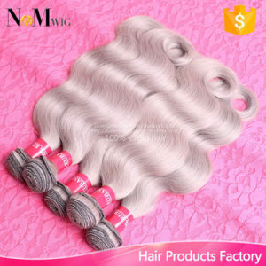 Gray Weave Brazilian Virgin Human Hair Body Wave Grey Hair Extension Bundles 100g/PCS Grey Weave Human Hair Wefts Dye pictures & photos