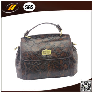 Wholesale Good Quality Genuine Leather Lady Handbag (HJ0518)