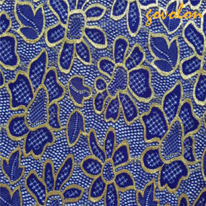 Fashion Polyester Embroidery Lace Fabric pictures & photos