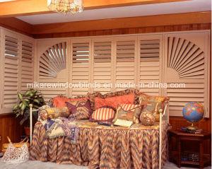 Adjustable Wooden Plantation Shutter for Inside Window