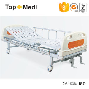 Topmedi Hospital Furniture Manual Two Function Steel Hospital Bed pictures & photos