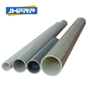 FRP White Color Glass Fiber Round Tube pictures & photos