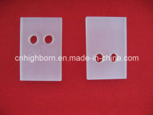 Square Clear Quartz Glass Plate with Hole pictures & photos