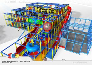 Funny Indoor Playground with Wave Slide pictures & photos