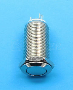 Flat Round Small Latching Push Buton Switch (GQ12F-10L) pictures & photos