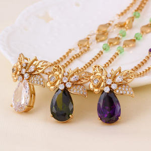 China Wholesale Xuping 18k Gold-Plated Luxury Long Woman Necklace pictures & photos