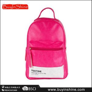 Women Pink Patchwork Tassels Backpack Bag