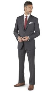 Grey Checker 2-Button Regular Fit Suit pictures & photos