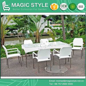 Patio Stackable Chair Garden Wicker Dining Set Outdoor Dining Set (Magic style) pictures & photos