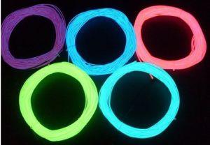 Multi Color 50m 2.3mm EL Flashing Wire, EL Wire Cable