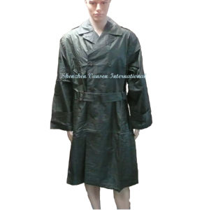 Navy Green Long Raincoat Without Hood pictures & photos