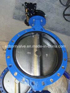 Ductile Iron Double Flanged Rubber Lined Butterfly Valve pictures & photos