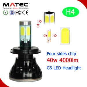 LED Headlight 4000lm H1 H7 H11 H16 9005 9006 9004 9007 H13 H4 LED Car Light pictures & photos