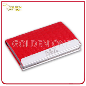 Customized Engrave Logo Leather Business Card Holder pictures & photos