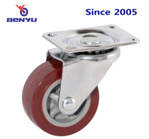 Purplish Red Swivel PU Caster pictures & photos