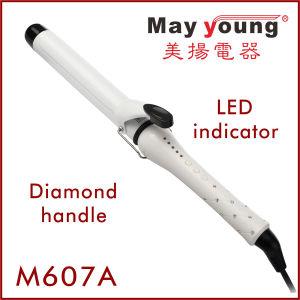 Manufacture 24 Diamond Handle Glaring&Luxury Ceramic Hair Curler pictures & photos