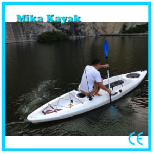 Single Kayak Con Pedales Plastic Boat Fishing Canoe pictures & photos