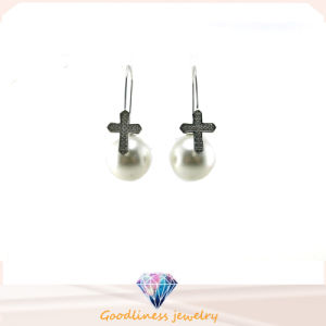 Wholesale Jewelry Pearl Style Woman′s Fashion AAA CZ 925 Silver Earring (E6552) pictures & photos