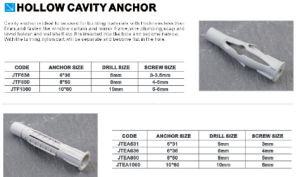 China Supplier Good Quality Low Price Hollow Cavity Anchor pictures & photos