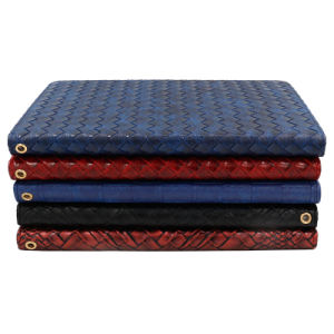Leather/PU Cases with Red Weave Pattern and Angle Adjust for iPad pictures & photos