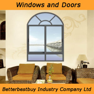 Brozen Color Sliding Aluminum Window for Bed Room pictures & photos