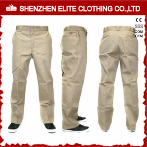 China Cheap Side Pockets Cotton Work Pants for Men pictures & photos