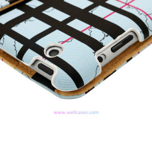 Check/Plaid Blue Tablet PC Computer Case/Cover for iPad/Samsung 7/8/10.1/12.9 Inch pictures & photos