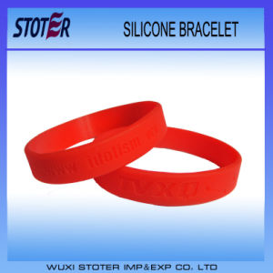 Wholesale Custom Bulk Cheap Embossed Silicone Wristbands pictures & photos