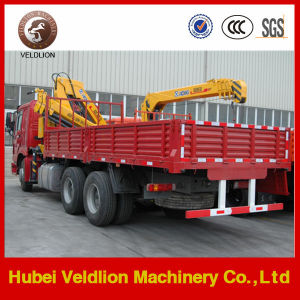 HOWO Lorry Truck with 10-12tons Lifting Crane pictures & photos