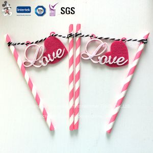 Environmental Paper Straws with Love Decoration pictures & photos
