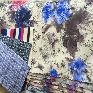 2016 New Flower Print Velvet Fabric pictures & photos