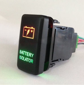 2.1A Two LED Lights Laser Etching Push Button Switch for Toyota Series pictures & photos