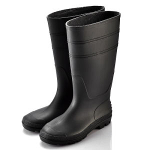 PVC Rain Boots (JK46501-Black) pictures & photos