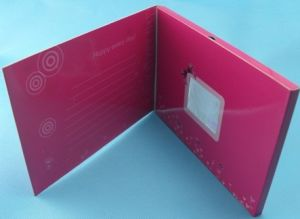 china lcd screen wedding birthday invitation electronic video, Birthday card